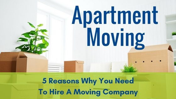Apartment Moving & 5 Reasons Why You Need To Hire A Moving Company
